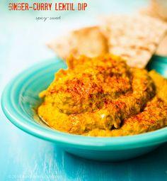 Warm Ginger Curried Lentil Dip