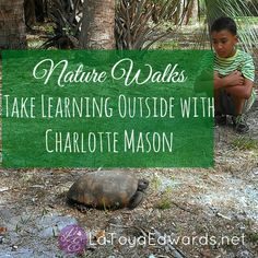 Charlotte Mason Homeschooling with nature walks is a lot of fun and a great way to cover science, history and more. | LaToyaEdwards.net