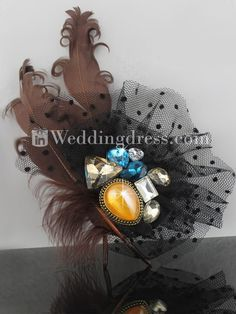 Feather Accessories,accessories,bridal accessories