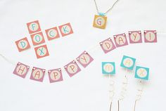 FREE printable alphabet letters (A-Z) for DIY buntings and garlands ^^