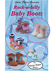 Crochet Baby Booties & Socks - Rock-a-Billy Baby Boots