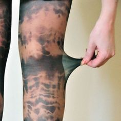 Tye dyed tights are everywhere right now. You can buy them for $40 or make them at home for $10 so easy and fun!