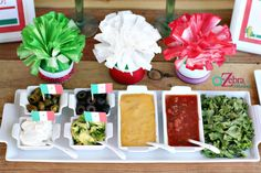 Festive Cinco de Mayo nacho bar display by A to Zebra Celebrations