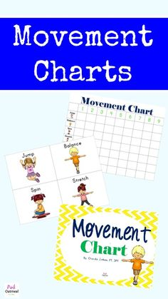 Movement Charts - Pink Oatmeal Includes FREEBIE printable!
