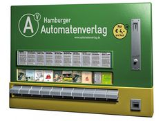 """""""Old Cigarette Vending Machines Repurposed to Dispense Books"""" -- German publishing company Hamburger Automatenverlag -- """"The restored vending machines are also part of a public art series that will be distributed around they city of Hamburg."""""""