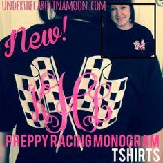 Preppy Monogram Racing T-shirt from Under the Carolina Moon
