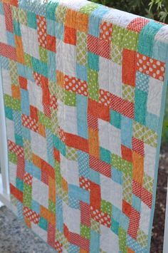 Quilting: This Way and That Way Baby Quilt Pattern $6:00 on Craftsy.