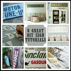 8 Great DIY Vintage Sign Tutorials