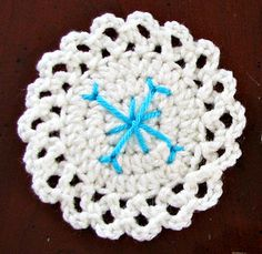 Season of Snowflakes #crochet coaster