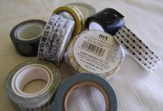"""In the past 12 months or so, """"washi tape"""" has taken over the scrapbooking and stationery world. For those who haven't heard of it, I thought I'd give you an overview of just what it is and perhaps why you might want to try it. For starters, """"Washi Tape"""" comes from Japan, is a paper tape that comes colors, craft idea, papers, blog, tapes, washi tape, diy, crafts, paper tape"""