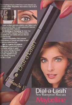 mascara, vintage beauty, remember this, maybellin dialalash, old school, 1980s, memori lane, childhood, vintage ads