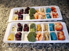 Ice cube tray lunch