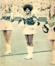 Mary Smith. First Black Cheerleader for the Dallas Cowboys!