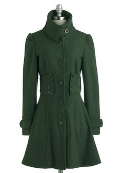 gorgeous green coat. i'm in love!