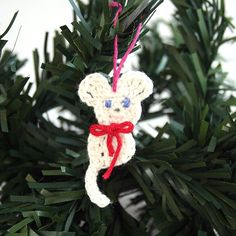 Add this tiny mouse to your tree this year! It only takes a few minutes to crochet.