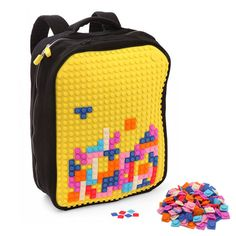 8-bit Pixel Art Backpack