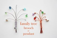 craft, brooches, pendants, family trees, tree brooch, famili tree, pendant tutori, families, gift idea