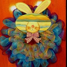 another Easter mesh wreath inspiration