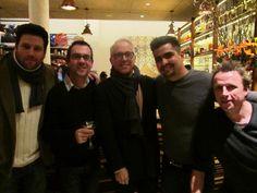Some of the Chopped crew. Scott Conant, Ted Allen, Geoffrey Zackarian, Aaron Sanchez, Marc Murphy.