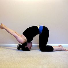 Cure Headaches With These Yoga Poses  gabby look, stand on your head and cure your headaches.  :-D