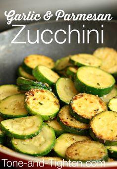 Garlic and Parmesan Zucchini on MyRecipeMagic.com