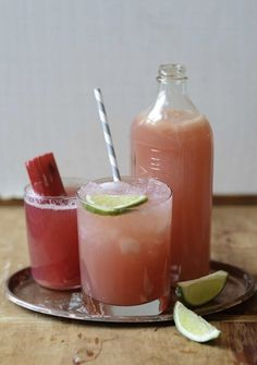 The Rhubarb Sour - Rhubarb Cocktail IDeas