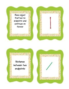 Students can practice geometry vocabulary by playing the concentration game for geometry terminology practice.  Some of the terms included are line...