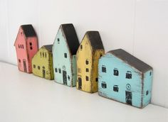 Wood house handpainted secret money place Light by OldNewAgain