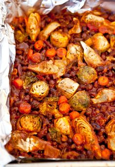 spicy beans with vegetables