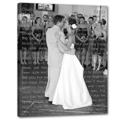 canvas with first dance lyrics