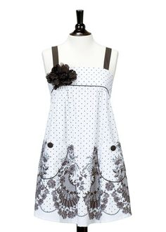 Jessie Steele Apron Mia French Lace with Black Flowers