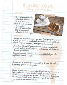 Triple Layer Carrot Cake Receta en español