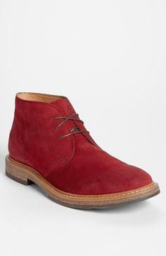 Great gift for a guy: red Chukka boot