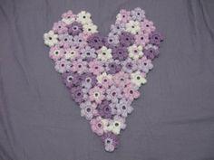 Puff Flower Heart Motif - Meladoras Creations Free Crochet Patterns & Tutorials