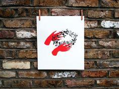 Hands print by Karolin Schnoor