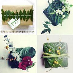 natural holiday gift wrap
