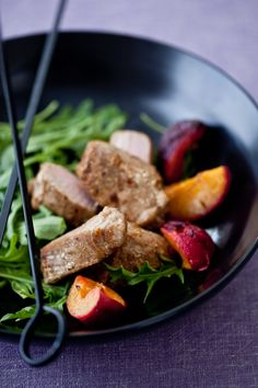 Chinese Five Spice Tuna & Stone Fruit Skewers. Photography by Helen of Tartelette. #helen #tartelette #photography #food #colours #chinese #tuna #fruit