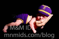 Lsu Football Hat and diaper cover set , crochet baby hat , diaper cover Size newborn 0 3  6 12 months MADE TO ORDER. $34.50, via Etsy.