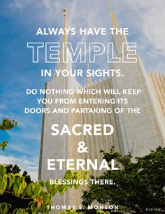 A beautiful reminder why temple ordinances are important.