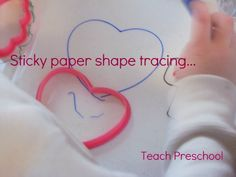 Sticky Paper Shape Tracing
