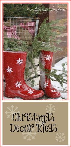 Red Snowflake Boots