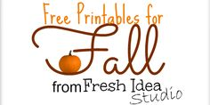 Free Printables for Fall from Fresh Idea Studio