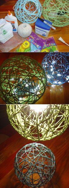 DIY String Lanterns