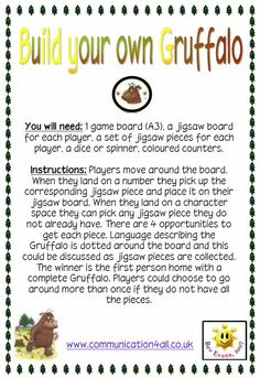 Build your own Gruffalo Game - Game with a jigsaw theme.