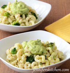 Pasta with Broccoli, Avocado Sauce