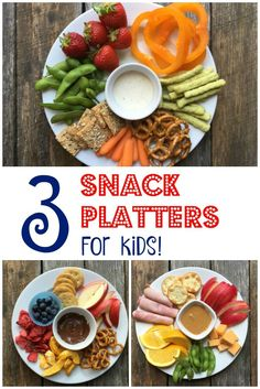 3 Snack Platters for