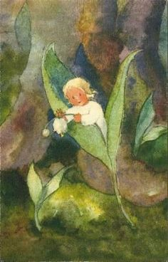 ≍ Nature's Fairy Nymphs ≍ magical elves, sprites, pixies and winged woodland faeries - Lily of the Valley fairy - Mili Weber