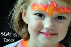fast princess crown tiara face paint design