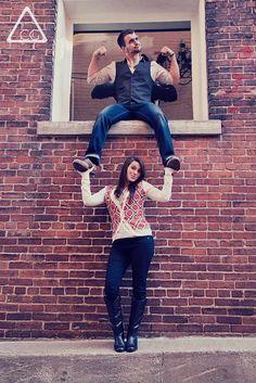 fun couples pose.