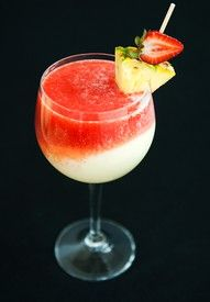 Lava Flow, Pina Colada, and Strawberry dacquari layered on top of each other!